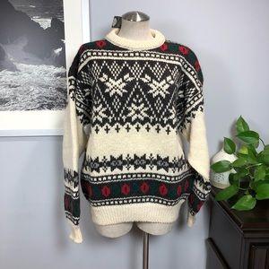 NWT Glencraig pure wool Nordic ski sweater Sz L